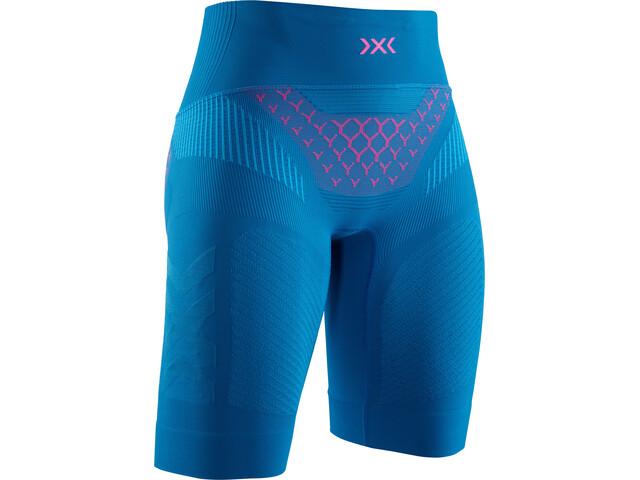X-Bionic Twyce G2 Løbeshorts Damer, teal blue/neon flamingo